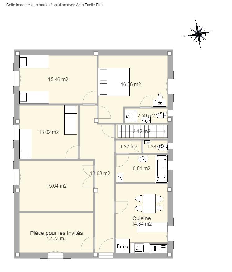 plan petite maison 2 chambres plan petite maison 50m2 erstaunlich sur idee deco interieur uber. Black Bedroom Furniture Sets. Home Design Ideas