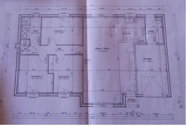 Construction dans le loir et cher maison plain pied 100m for Construction plain pied