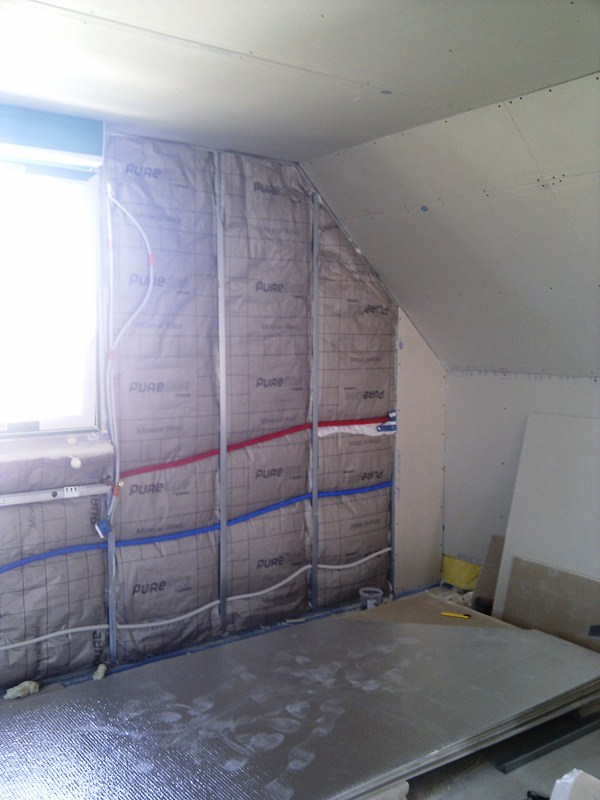 r alisation de la douche italienne carrelage douche italienne installation de la colonne de. Black Bedroom Furniture Sets. Home Design Ideas