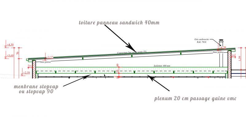 toiture panneau sandwich 40mm risque de condensation 6. Black Bedroom Furniture Sets. Home Design Ideas