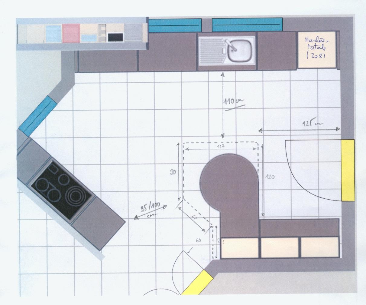 Element bas de cuisine avec plan de travail cuisine for Plan de travail cuisine 70 cm