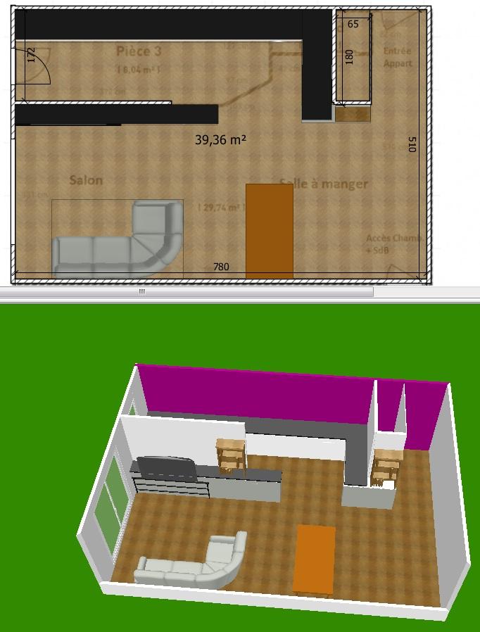 Cuisine ouverte ou ferm e appartement 29 messages for Cuisine ouverte odeur