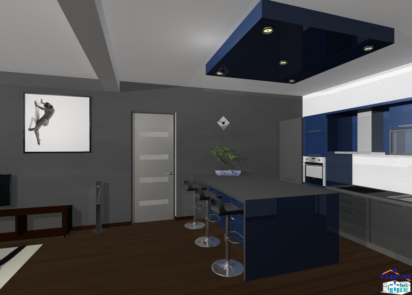 Salon sejour cuisine ouverte beautiful cuisine ouverte for Cuisine ouverte sur salon