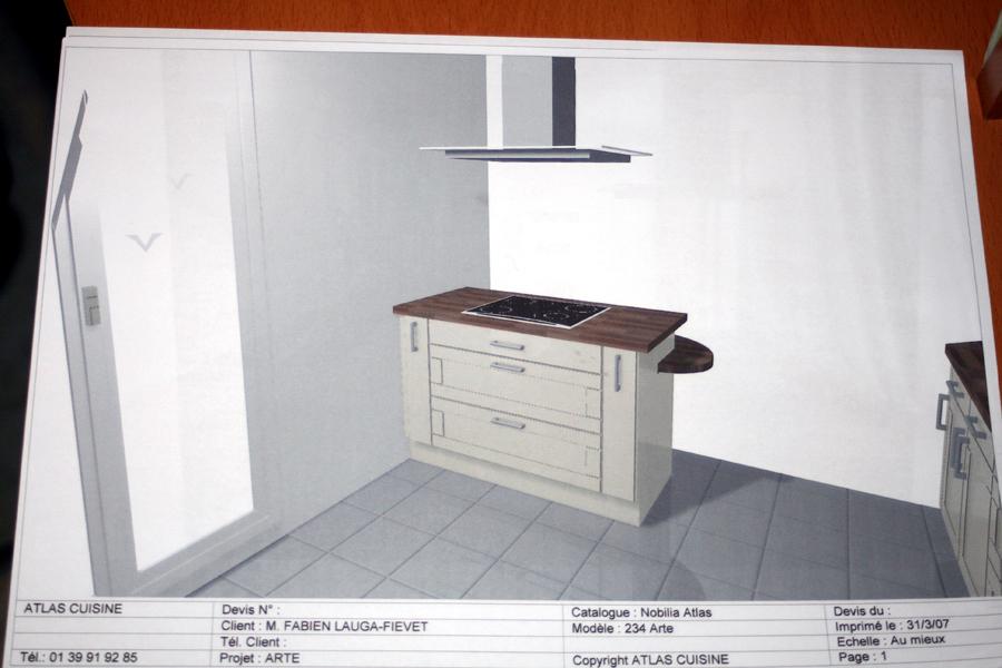 cuisine atlas catalogue et voici le projet chez atlas le mme modle quuixina mais l il suappelle. Black Bedroom Furniture Sets. Home Design Ideas