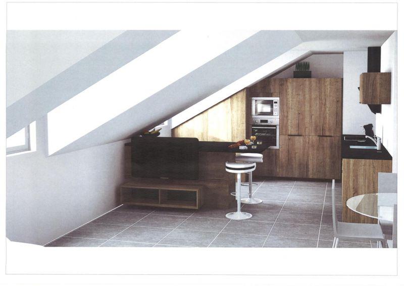 avis pour l 39 am nagement d 39 une cuisine sous pente 12 messages. Black Bedroom Furniture Sets. Home Design Ideas