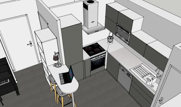 Demande d 39 aide et d 39 avis pour un plan de petite cuisine for Plan de petite cuisine