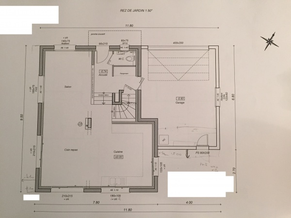 plan de maison un niveau