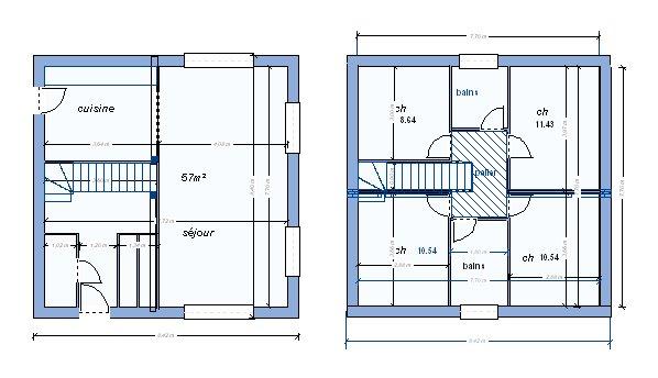 plan maison r 1 130m2