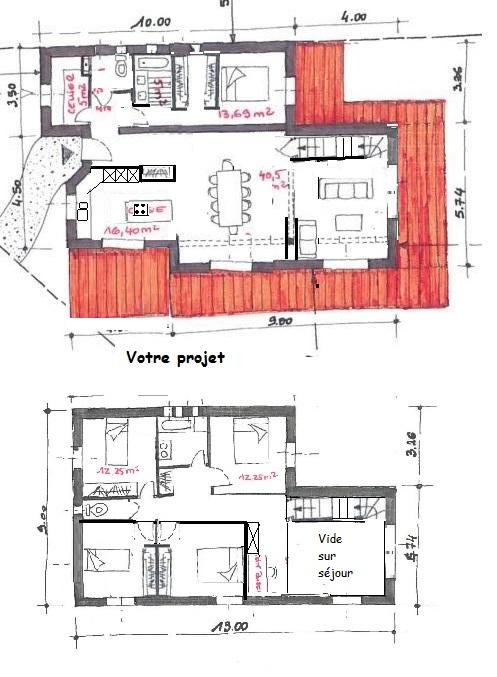 Demande d 39 avis pour le plan de notre maison de 160m2 74 for Tracer un plan de maison
