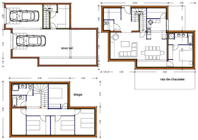 Best imaginer la maison avec le sous sol mais cuest pour for Plan maison facile