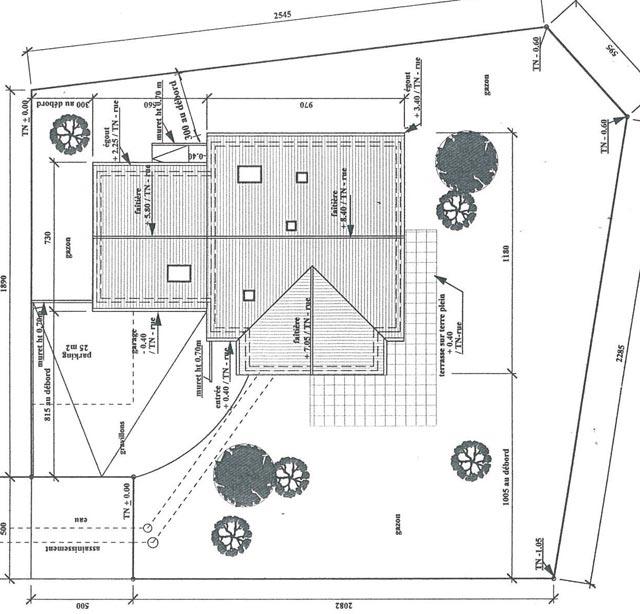 Scoubidou cr pis fini terrasse presque finie bas rhin - Exemple plan de masse ...