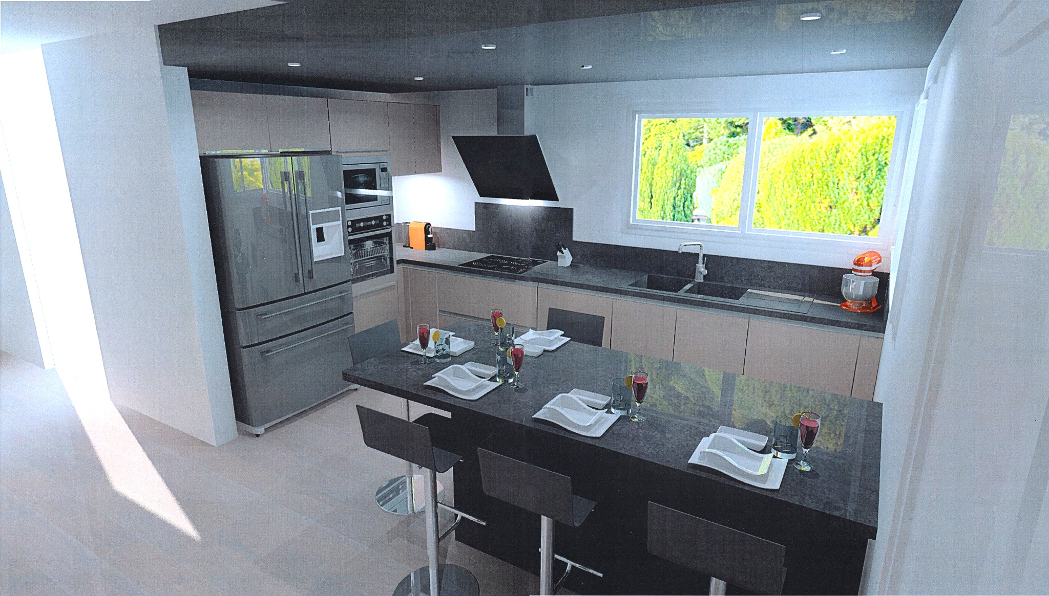 Prix cuisine 12m2 relooker une cuisine petit prix for Calculer le prix de sa maison