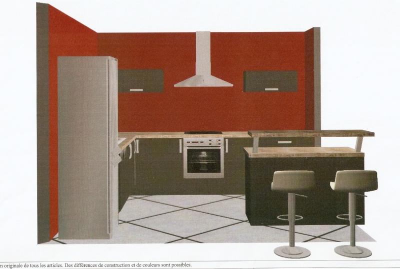 Ixina Angouleme Elegant Free Cuisine Hygena Ilot Central