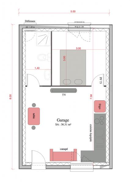 plan de maison f2
