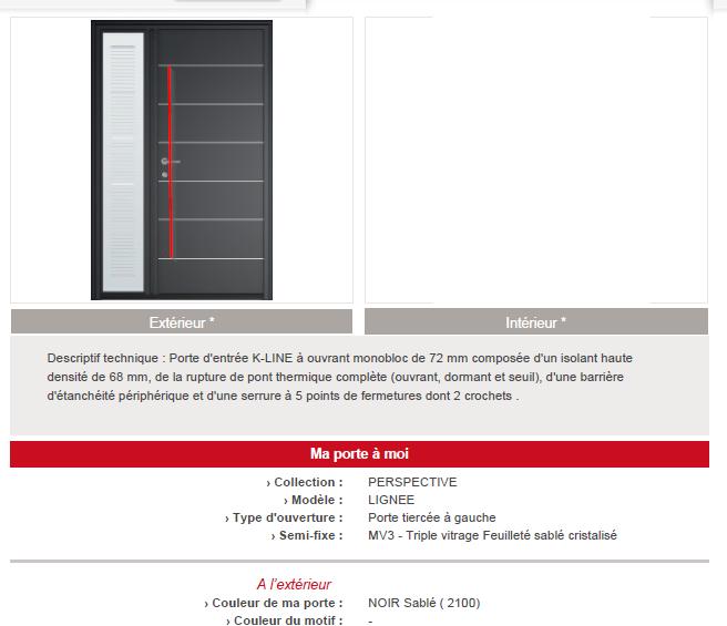 devis porte d 39 entr e k line 32 messages page 3. Black Bedroom Furniture Sets. Home Design Ideas