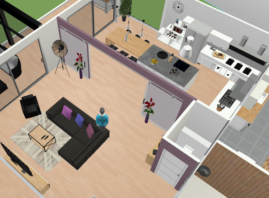 Donner votre avis sur plan d 39 amenagement salon cuisine for Plan amenagement salon
