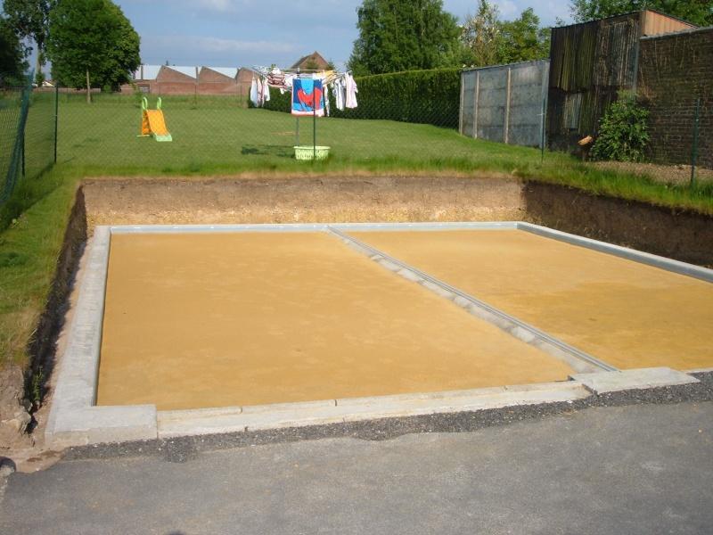 Realisation d un double garage 59 nord - Faire une terrasse sur lit de sable ...