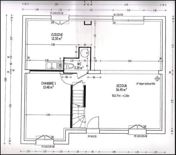 plan de maison castor