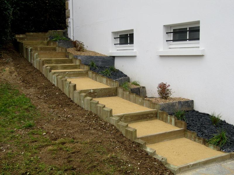Escalier En Bois Paysag.