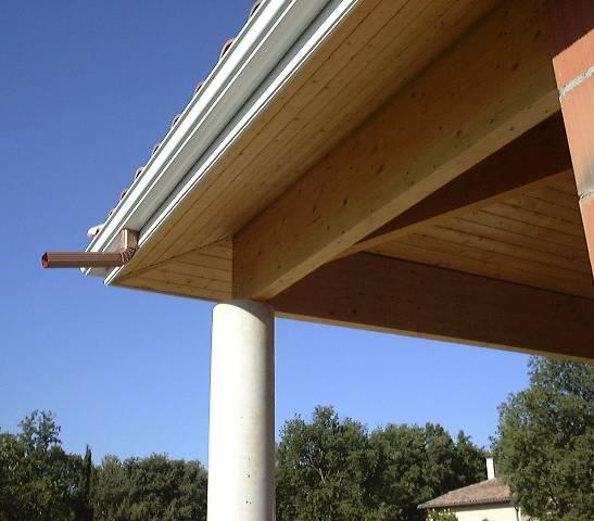 Espace entre ma onnerie et d bord de toit 13 messages - Lambris bois exterieur sous toiture ...