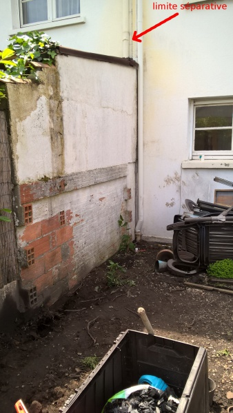 Extension maison murs en limite s parative probl me for Extension maison 3 murs