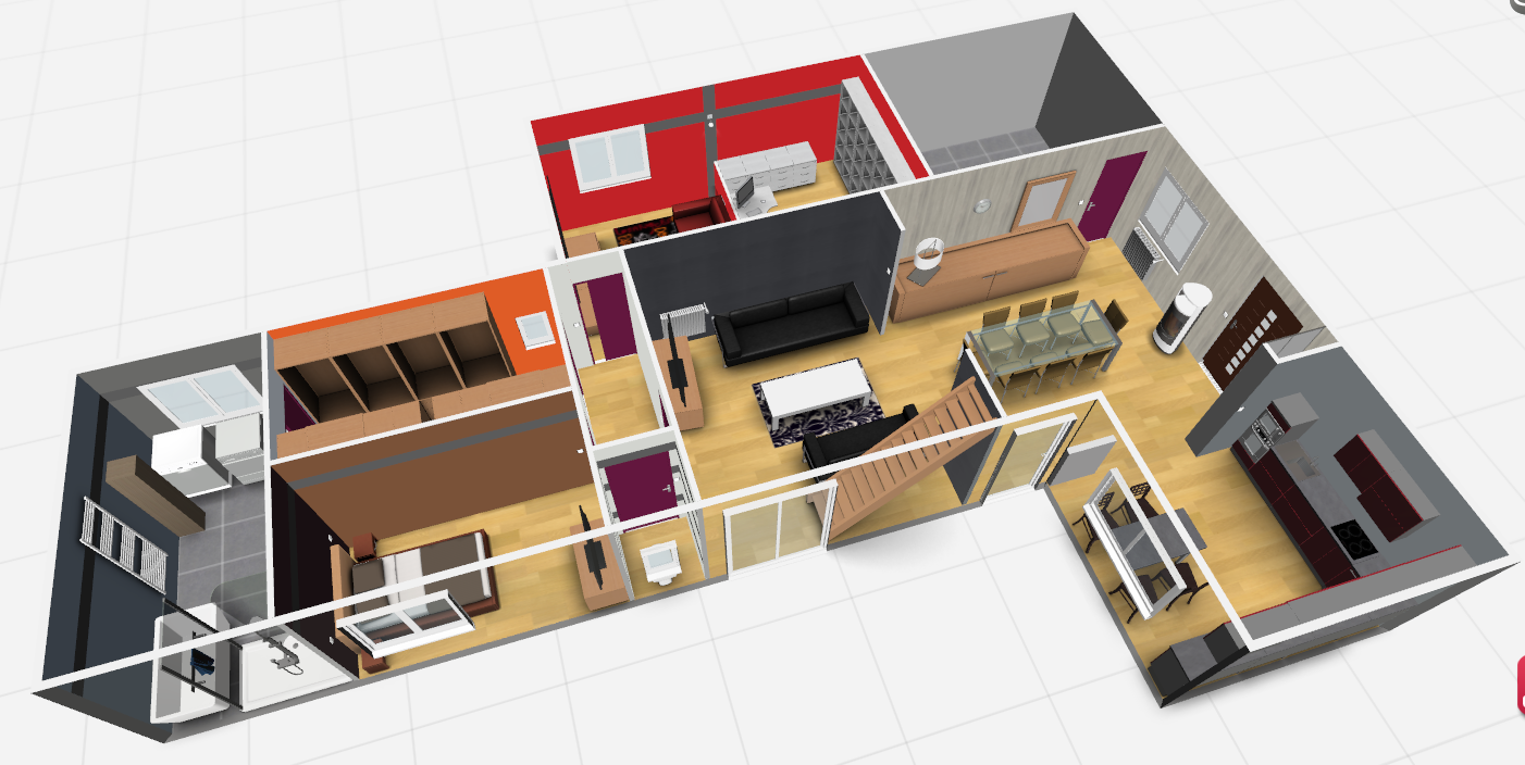 Futur project plan 3d en photo for Plans de maison 3d