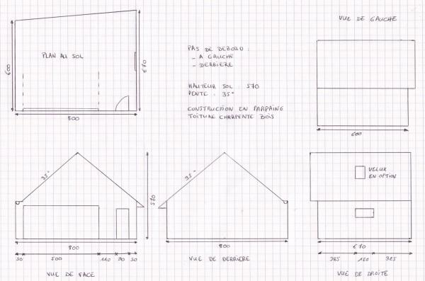 Garage double 1 re autoconstruction 14 messages for Largeur garage double