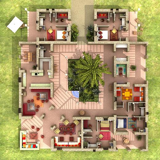 Ide De Plan Maison En Plein Pied Avec  Chambres   Messages