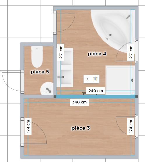 Plan Salle De Bain Wc Free Avantaprs Plans De Salle De Bains Avec - Plan salle de bain wc