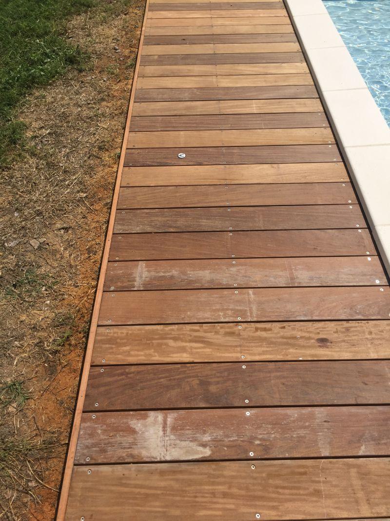 Ou Acheter Bois Ipe terrasse en ipé avec traces blanches et trous : que faire
