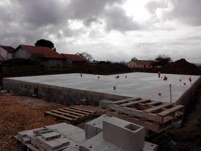 d but du chantier fondations ferraillage coulage vide sanitaire tarn et garonne. Black Bedroom Furniture Sets. Home Design Ideas