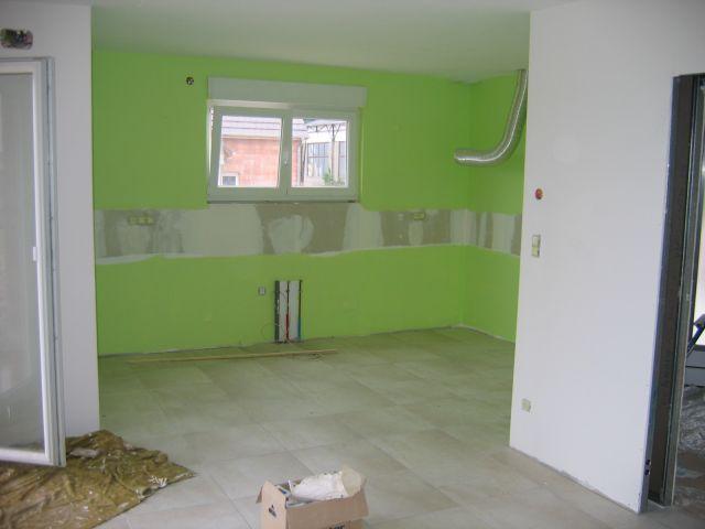 Peinture verte cuisine cuisine peinture verte peinture for Peinture cuisine vert anis