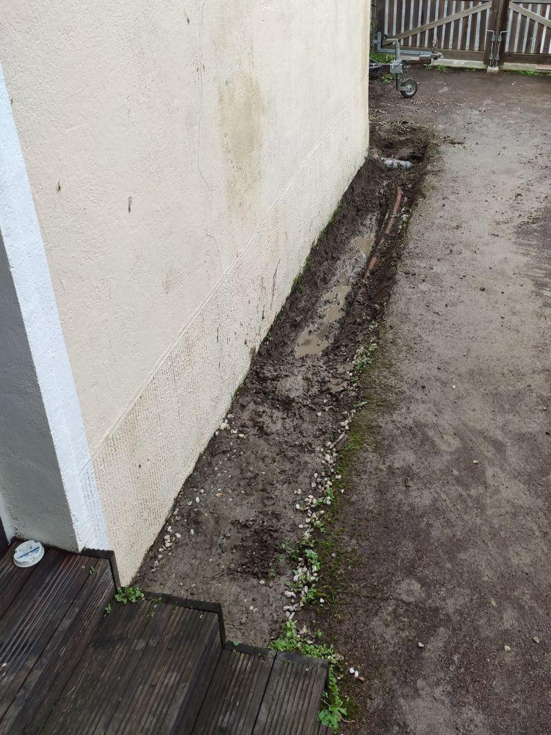 Refaire Fondation Maison Ancienne drainage ou pas drainage pour le mur d'une maison ancienne