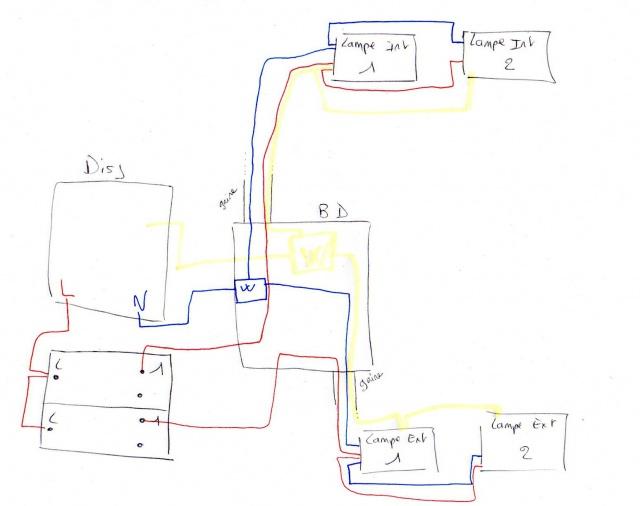 installation interrupteur et 2 lampes 15 messages. Black Bedroom Furniture Sets. Home Design Ideas