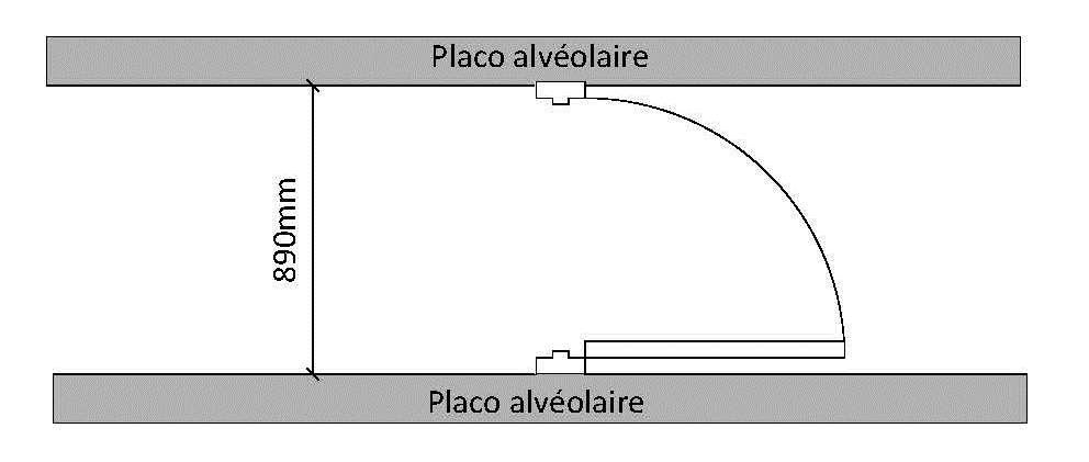 Installation D'Une Porte Entre 2 Cloison Alveolaire