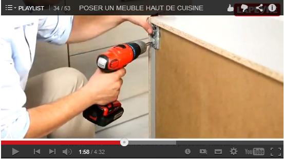 Comment installer des spots encastr s dans meubles hauts - Systeme fixation meuble haut cuisine ...