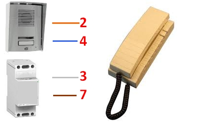 interphone extel any. Black Bedroom Furniture Sets. Home Design Ideas