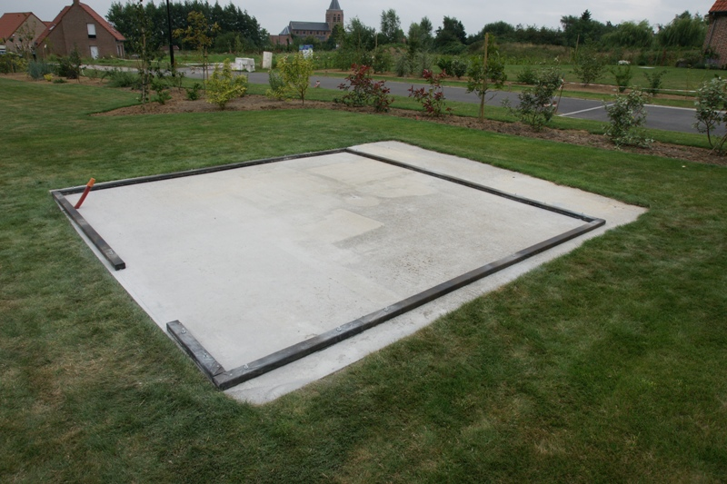 beautiful dalle de beton abri de jardin contemporary