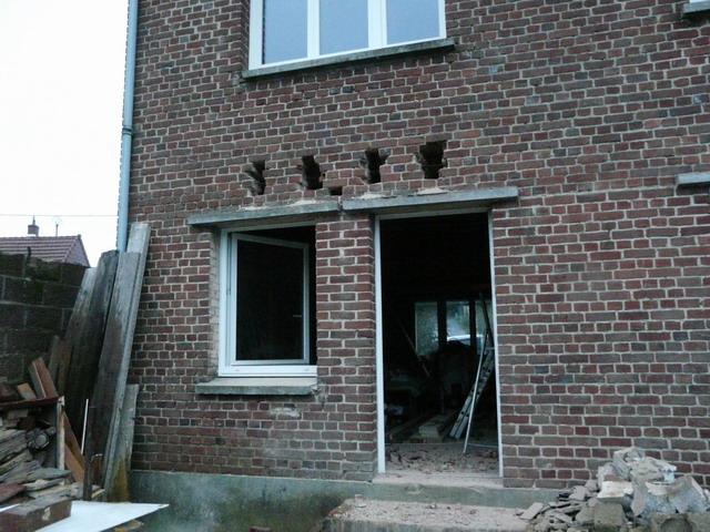 linteau pour baie vitrée dans mur briques (rénovation) - 16 messages