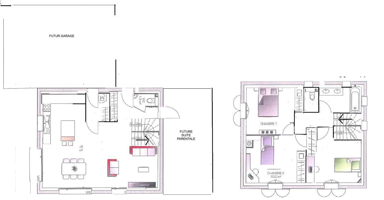 plan maison 7m facade