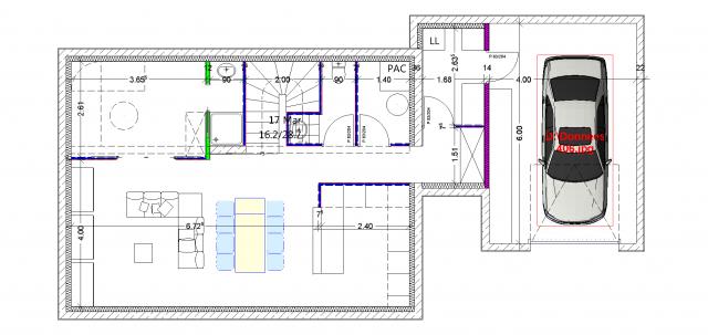 Maison r 1 110m sur terrain plat entr e par le sud 42 messages - Plan maison entree sud ...