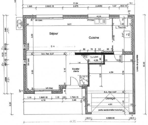 plan maison etage 135m2