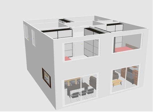 Maison r 1 forme cubique orientation sud ou sud ouest for Sweet home 3d maison a etage