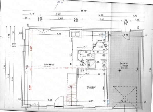 Plan Maison 3 Chambres 1 Bureau. Elegant Taille Chambre Beau Image