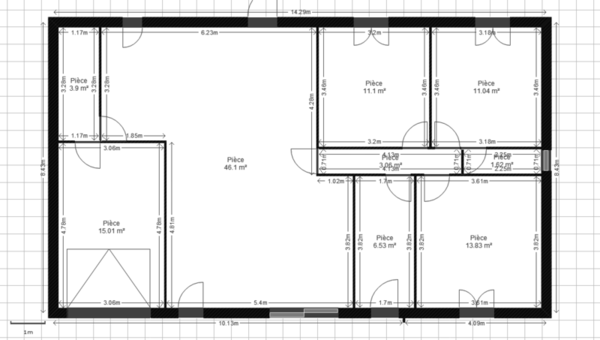 Plan de maison 450m2 for Plan de maison zone llc