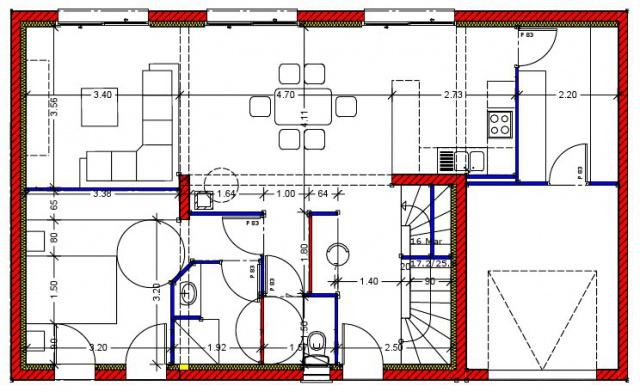 Plan Maison Petit Terrain Interesting Fig Plan Schematique De La Du