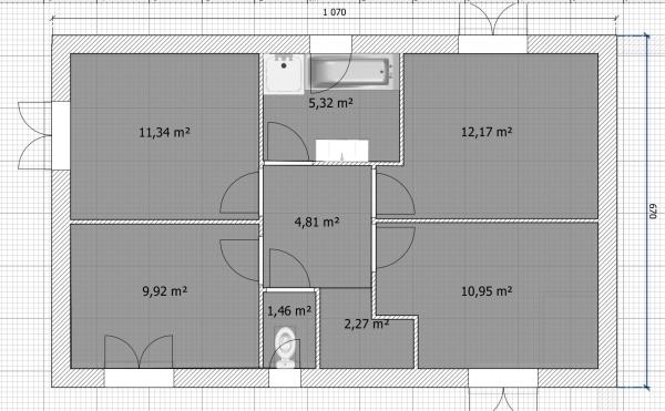 Maison de 110m avec tage sur terrain de 450m garage for Avorter seule a la maison