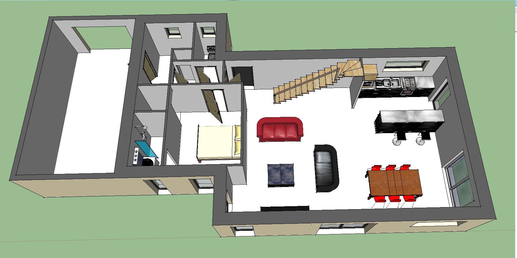 vue 3d etage - Sweet Home 3d Maison A Etage
