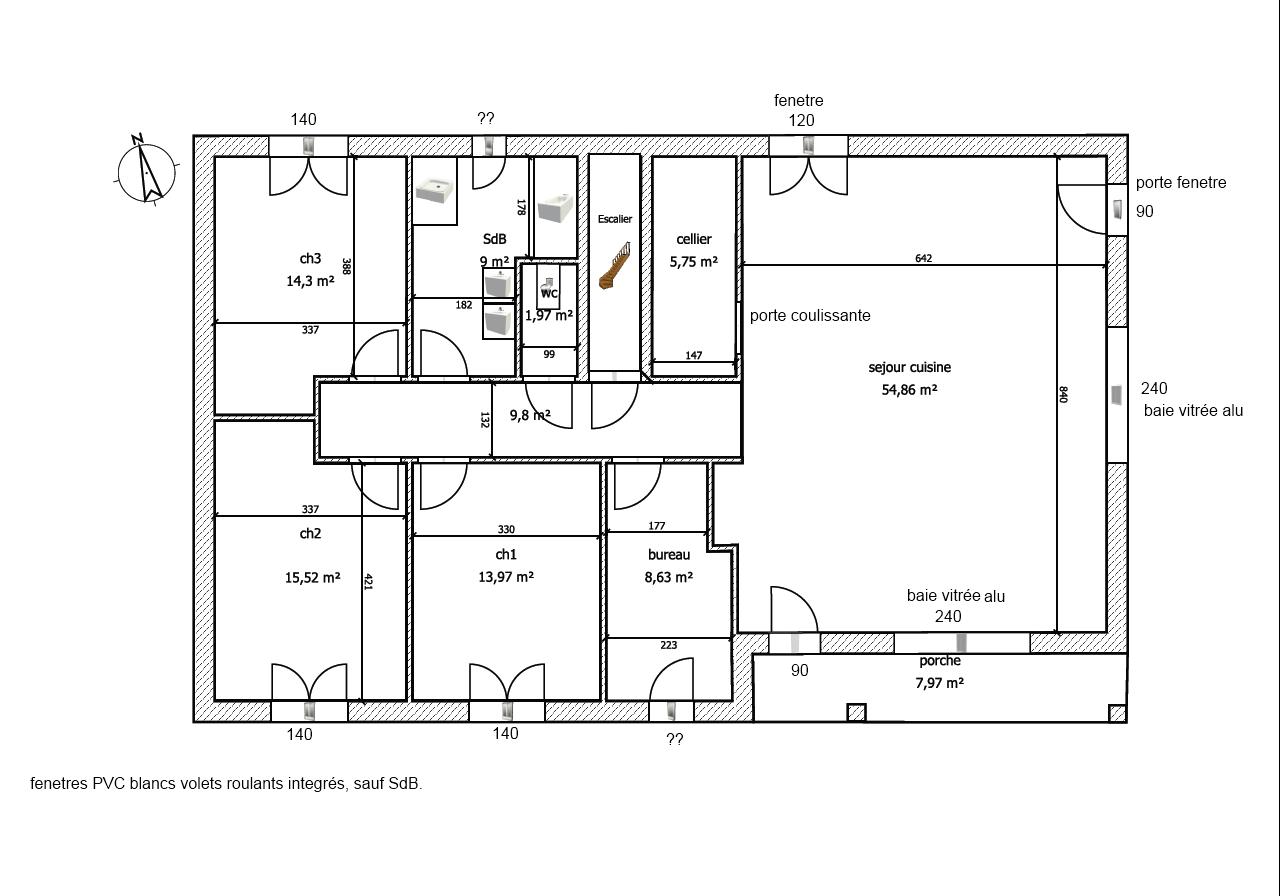 Plan de maison avec sous sol complet for Plan complet maison