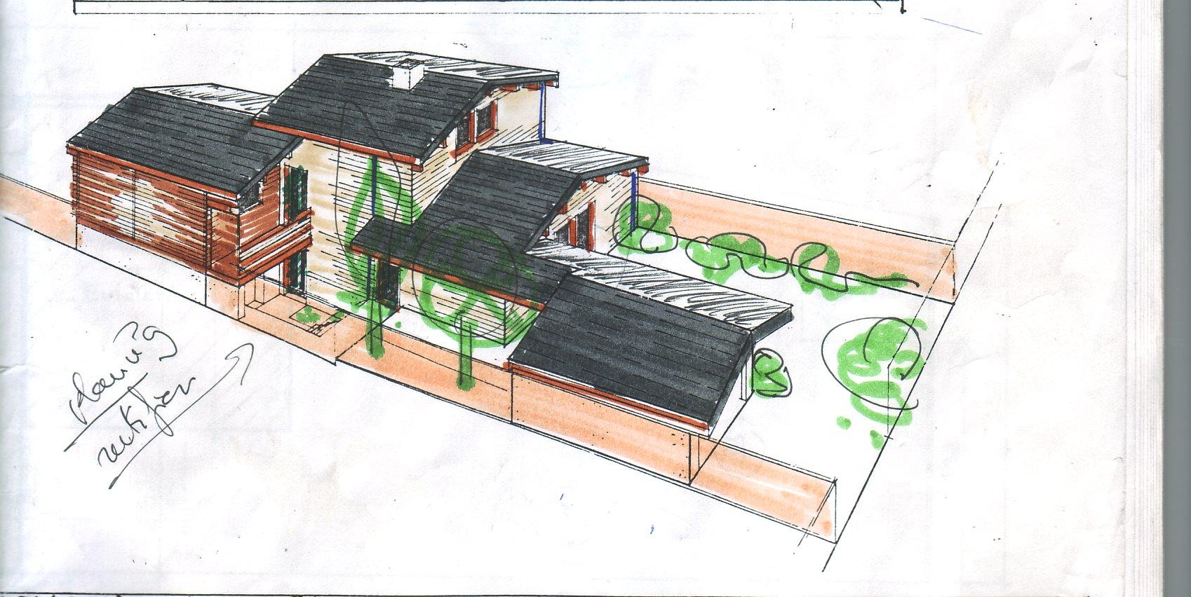 Maison bois toit plat maison design for Maison bois toit plat